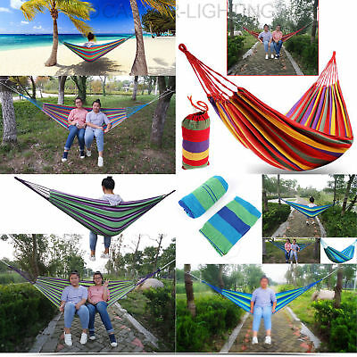 Premium Garden Patio Porch Hanging Rope Swing Chair Seat Hammock Bench Swinging
