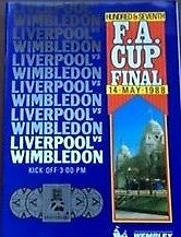 Genuine Liverpool v Wimbledon 1988 Wembley football programme