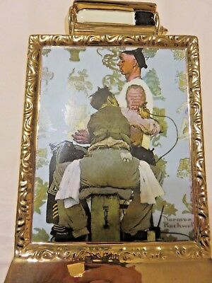 Vintage Rare Norman Rockwell The Tattooist Limited Edition Whiskey Decanter EXC