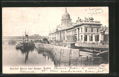 AK Dublin, Custom House and Quays 1904