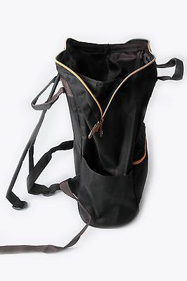 New** Anello Japan All Black w/gold ZippTote Style Backpack Campus Rucksack Bag