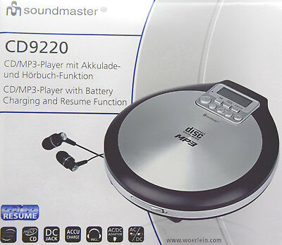 Soundmaster CD9220 tragbarer CD-Player CD, CD-R, CD-RW, CD-MP3