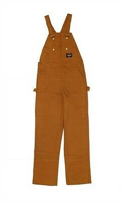 Rasco FR  Bib Overalls Brown Duck  NWT