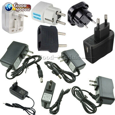 EU/US Plug AC 100-240V to DC 12V 9V 5V 1A 2A Power Supply Converter LED Light
