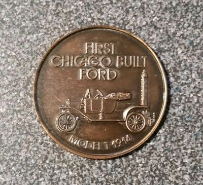 First Chicago Built Ford Model T 1914 / Five Millionth Chicago Built 1972 MEDAL