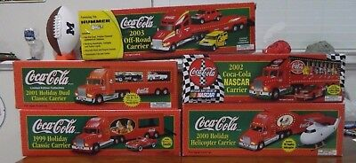 Coca Cola Set of Five (5) 1999-2003 Semi Truck HOLIDAY CARRIERS