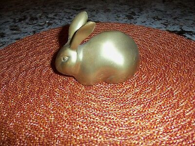 Vintage Solid Brass Bunny Rabbit, SUPER