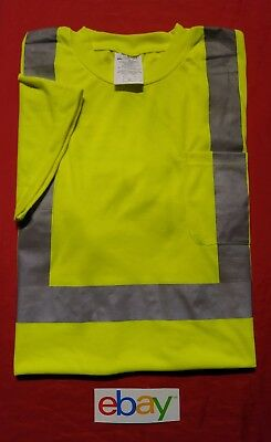 OCCUNOMIX LUX-SSTP2 T-Shirt, Mens sz XL, HIGH VISIBILITY Yellow LOGO ON BACK