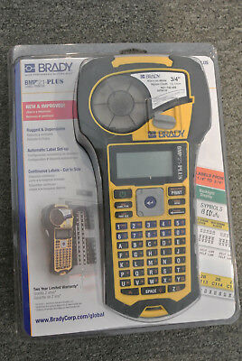 Brady BMP21-PLUS Handheld Label Printer with Rubber Bumpers Multi-Line Print ...