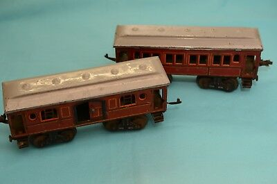 Alte KBN Karl Bub 2 Stück Waggons Spur0 Made in Germany