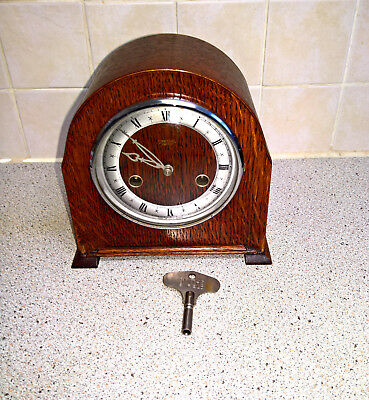 small smith enfield mantel clock (working)