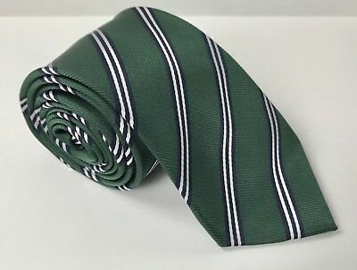Boy's CHILDRENS PLACE Green, Navy Striped Neck tie, Preppy, Holiday, Size 8-14