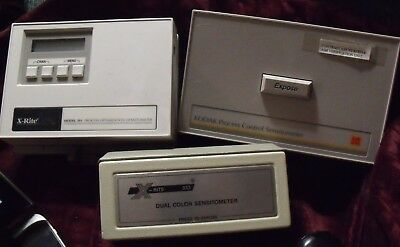 Kodak & Xrite Sensitometer & Desensitometer Lot of 3