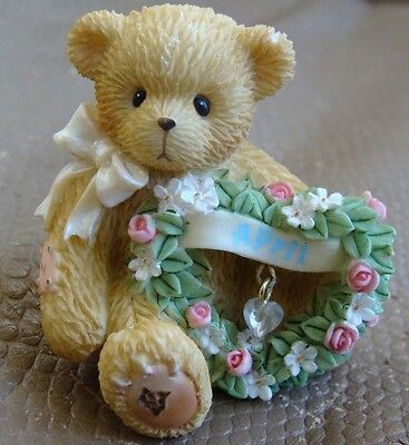 Cherished Teddies April Birthday Figurine - Enesco - Priscilla Hillman - 2003