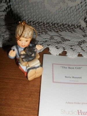 Berta Hummel 1997 Christmas Ornament  -  The Best Gift - with Card