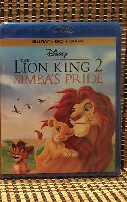 The Lion King 2: Simba's Pride (2-Disc Blu-ray/DVD,2017)Disney/Simba/Timon/Pumba