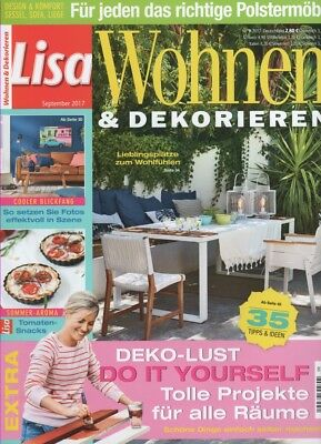 zeitschrift lisa wohnen dekorieren august 2014 eur 1 00. Black Bedroom Furniture Sets. Home Design Ideas