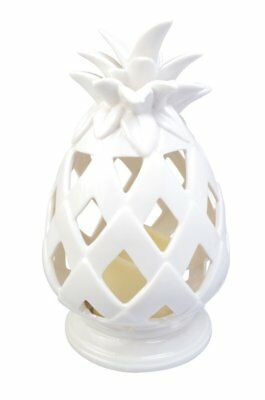 Moonrays 91582 Battery-Operated Tabletop Pineapple, White