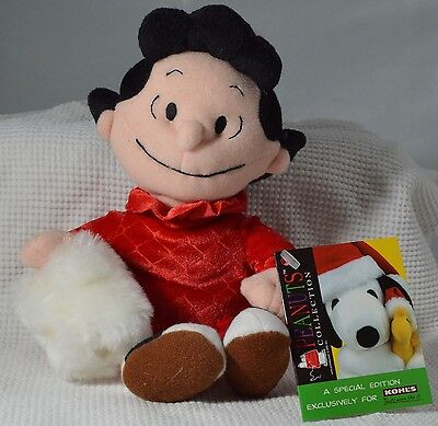 """Vintage Peanuts Kohls Plush Stuffed Lucy 8"""" Doll Limited Edition with Tag"""