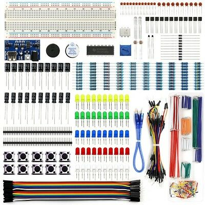 Electronics Kit Resistor-Wires Assortment Breadboard Power Supply Raspberry Pi