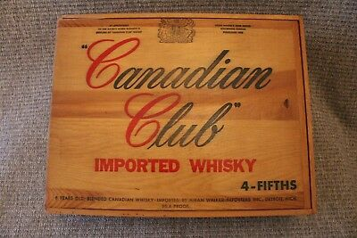 Canadian Club Imported Whiskey Empty Box USED