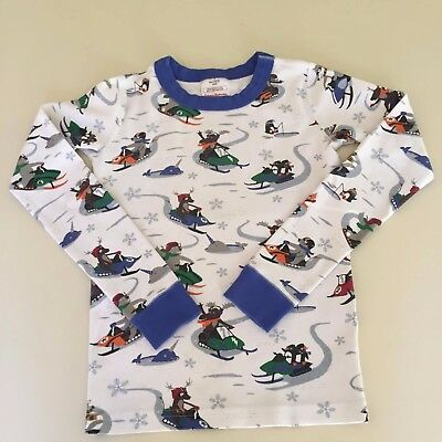 "HANNA ANDERSSON AWESOME Boys ""HOLIDAY"" Pajama TOP, 8-10 years 140 cm GREAT!!"