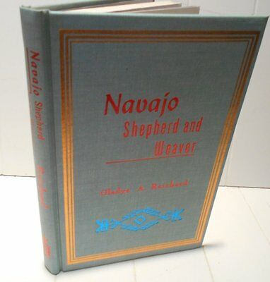 1936 A 1977 Reprint Navajo Sheperd And Weaver By Gladys A. Richard Rugs Textiles