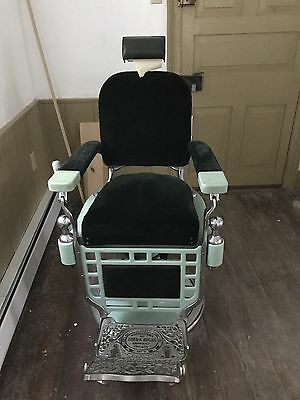 THEO - A - KOCHS Barber Chair, Early 1900's, Chicago ILL, Good Item