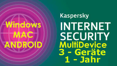 Kaspersky Internet Security MD WINDOWS/MAC/ANDROID ESD Download 1-Jahr  3-Geräte