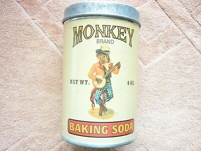 "Advertising Promotional Tinware  ""MONKEY BRAND BAKING SODA"" Repro-Paper Labeled"