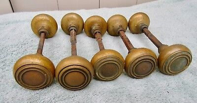Vintage Architectural Salvage Lot of 10 Antique Solid Brass or Bronze Door Knobs