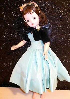 All Original Vintage Madame Alexander Cissy Doll In THEATER AQUA TEAL DRESS SET