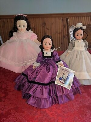 Vintage Madame Alexander Dolls- mixed lot of 3