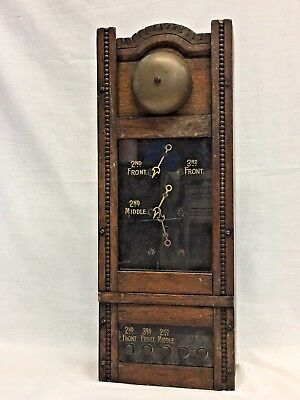 Rare Antique Annunciator Call Box ~ Hotel Butler Box