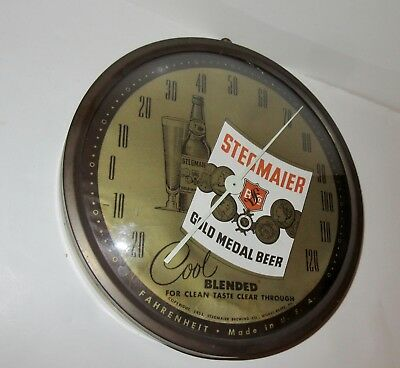 Vintage 1953 Stegmaier Gold Medal Beer Bubble Glass Thermometer Sign 1953
