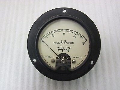 Triplet 200 Ma Dc Panel Meter Model # 321 Used Tested Ok  Loc. A-9