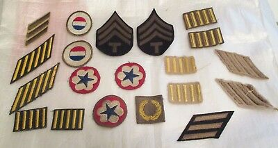 20 ORIGINAL WWII US ARMY Air Force Military  PATCH Lot  WW2 Patches