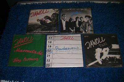 """JAWOLL - alle fünf 7"""" Singles der NDW - Band kpl.!!! Taxi, Rendezvous..."""