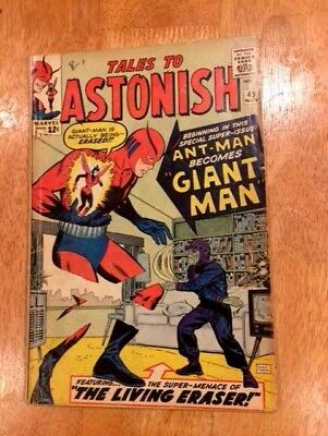 TALES to ASTONISH #49 (Nov 1963 MARVEL)  ANT-MAN becomes GIANT MAN!