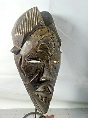 Old Tribal Tikar Mask Nigeria Fes- gb535