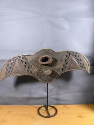 Old Tribal BWA Butterfly Mask Burkina Faso Africa Fes- gb417