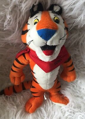"""Vintage 1990's Tony The Tiger Kellogg's Frosted Flakes Plush Toy 10"""""""