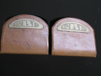 Vtg Handmade Arts & Crafts Mission Hammered Copper Metal  Monogrammed  Bookends