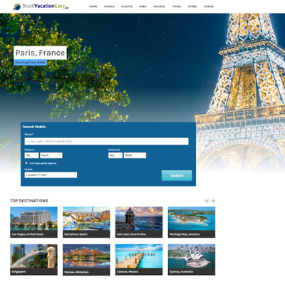 Travel Website Business 100% automated, Full Customization & Make $1 -$4/Click !