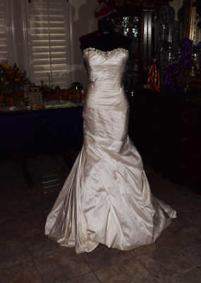 Bridal Gown Wedding Dress Size 8 Champagne Mermaid