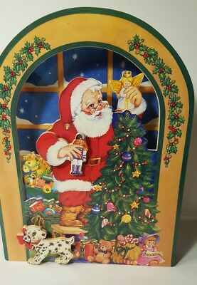 "San Francisco Music Box Company Animated Santa & Toys Music Box 9.5"" 1993"