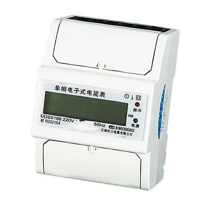 Energy Power Din Rail kWh Kilowatt Hour Meter Single Phase 20(80)A LCD 50Hz