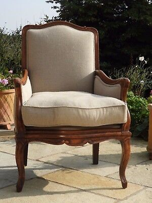 Antique French Bergere Arm Chair