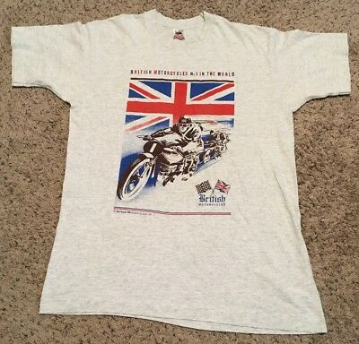 British Motorcycles Vintage 90's T-shirt - Large - Fruit Of The Loom