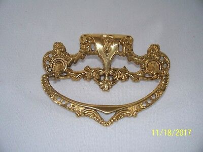 "Antique Brass 3"" Spread Drawer Handle Pull Ornate Victorian"
